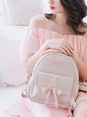 993795b4a478 Bow Detail Chanel- Inspired Backpack Rubys Collection !